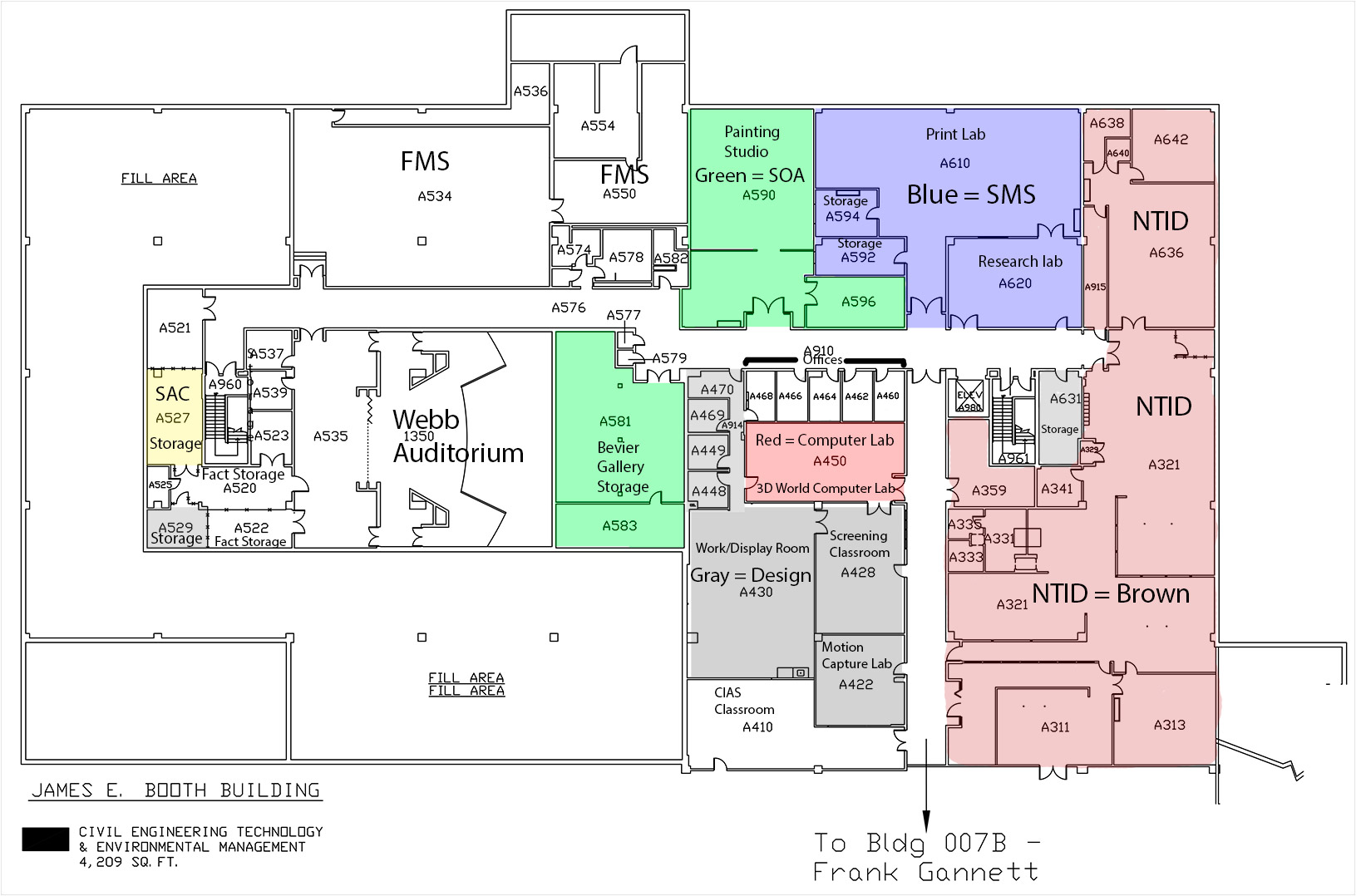 Color Coded Building Diagrams Cad  7a And 7b  U2013 Inside Cad
